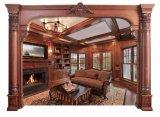 Modanatura di legno di mogano solido della finestra del blocco per grafici dello stipite di portello della decorazione domestica (GSP17-007)