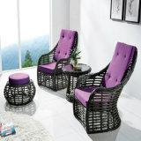 Ротанга PE высшего уровня софа двойника мебели относящого к окружающей среде напольная для живущий комнаты
