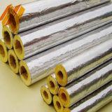 Cobertor do rolo das lãs de vidro da tubulação com folha de alumínio (diâmetro 20-100mm)