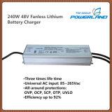 cargador de batería de litio de 240W 48V Fanless con la entrada de información de la CA de la gama completa