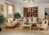 Mesinha de sala de estar com mesa de madeira natural