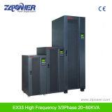 고주파 온라인 3/3phase IGBT 정류기 UPS Ex33 20kVA-80kVA