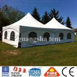6X6m Fabric Luxury Garden Outdoor Gazebo Pagoda Tent Pavilion