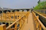 Рельсовая система патио Railing сада пластичного деревянного рельса высокого качества напольная