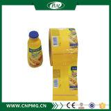 Étiquette thermo-rétrécissable flexible pour la bouteille