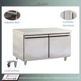 48f Equipamento de refrigeração de aço inoxidável Comercial de porta dupla sob liquidificador