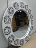 Miroir décoratif moderne rond de mur d'art de boucles (LH-M17012)