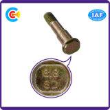Parafusos ovais galvanizados Steel/4.8/8.8/10.9 da etapa do carbono para a estrada de ferro do edifício