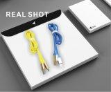 dos dados macios materiais de borracha do USB de 1.2m cabo cobrando do carregador do telefone para cobrar rápido