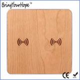 Двойной деревянный беспроволочный заряжатель для 2 телефонов (XH-PB-131)