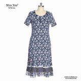 Платье девушок Miss Вы Ailinna 304838 флористическое макси с белым шнурком