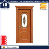 Porte en bois de teck de qualité de Chambre extérieure solide en bois avec la traverse