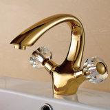 Bronze da pintura do ouro do Faucet da bacia da água da embarcação do banheiro de Flg