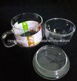 Чашка чая боросиликатного стекла материка Китая с крышкой
