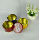 La caja del caramelo redondo de encargo, caja de empaquetado de calidad alimentaria con diferentes sabores