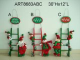"22 ""H Santa, Snowman e Elf Christmas Decoration Wreath, 3 Asst"