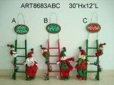 """22 """"H Papá Noel, Muñeco de Nieve y Corona de Decoración de Navidad de Elfo, 3 Asst"""