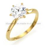 ювелирные изделия стерлингового серебра кольца диаманта 925 установки 6prongs (R1907)
