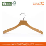 Eisho Notches Design Flat Wood Hanger Hangers
