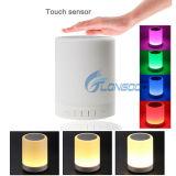 Altavoz sin hilos portable de Bluetooth de la nueva luz de la noche 2016 con la lámpara de vector Touchsensor del color LED