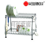 Het gepatenteerde Regelbare Drogende Rek van de Schotel van de Keuken van het Metaal van het Chroom, het Rek van de Plaat