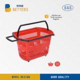 بلاستيكيّة [شوبّينغ بسكت] مغازة كبرى ومركز تجاريّ يتيح تسوق حامل متحرّك مع عجلات دكّان بقالة عربة
