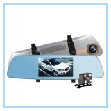 Объектив фотоаппарата 2 автомобиль DVR ночного видения экрана касания 5.0 дюймов