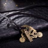 De Uitstekende Halsband van het Leer van de Vrouwen van de Tegenhanger van de Vorm van de fiets