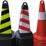 Cones de trânsito de laranja reflexivo de 75 cm