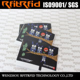Etiqueta del precio RFID de la impresión del Hf ISO15693 para la tarjeta pagada por adelantado electrónica