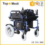 Nuevo respaldo de Incliner del producto del diseño de Topmedi plegable el sillón de ruedas de la energía eléctrica para Handicapped