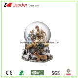 Globo dell'acqua del regalo 80mm del mestiere di Polyresin con i Figurines del fenicottero per il ricordo ed i regali promozionali