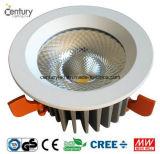La MAZORCA de Dimmable 15W abajo enciende el LED con blanco fresco