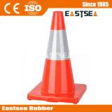 Cono del camino de color naranja reflectante Base de Soild de PVC para la Seguridad