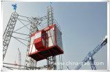 Gaoli Sc200/200 2 toneladas del elevador eléctrico del alzamiento que sube de alzamiento de la construcción