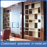 Kundenspezifische Brown-Edelstahl-Butike-Bildschirmanzeige-Zahnstange für Wohnzimmer