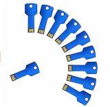 USB colorido da chave do metal relativo à promoção do presente 4GB com logotipo livre