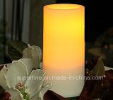 装飾のためのプラスチックFlameless電池式の安全使用の柱LEDの蝋燭
