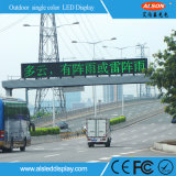 Advertizing를 위한 P10 Outdoor Single Green Color LED Message Display Board