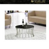 작은 공간, &#160를 위한 차가운 커피용 탁자;  철 유리제 커피 검정 테이블 (YF-170093T)