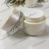 化粧品の包装のための30/50g真珠の白いアクリルのクリーム色の瓶(PPC-ACJ-120)