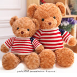 Peluche suave del oso del juguete con la ropa