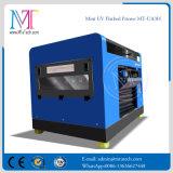 Printer pequeno LED UV, Flatbed Máquina A3 Tamanho da impressora digital para qualquer disco Materiais, com cinco cores e alta resolução