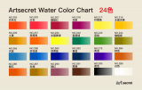 24 jeux de peinture d'aquarelle de couleurs
