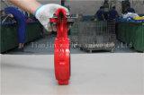 Válvula de borboleta Wafer de dobra de haste dupla com alavanca de mão (D71X-10/16)