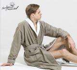 高品質の最高のホテルの倍の表面綿の浴衣及びパジャマFatory