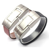 Fashion Leather Wrist Band USB Drive Meilleur cadeau pour Gentleman