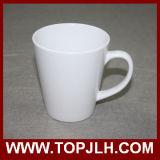 Tasse blanche de cône du blanc 12oz d'impression de transfert de DIY