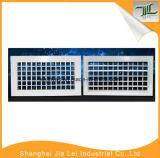 Grade de ar de alumínio ajustável da ventilação da fonte dobro da deflexão