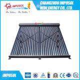 Novo tipo 2016 coletor solar pressurizado de vidro de tubulação de calor da câmara de ar de vácuo do metal